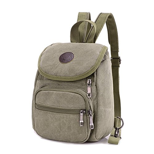 Z-P Unisex Canvas Casual Daypack Laptop Bag Schoolbag Travel Storage Backpack (Leder Tote Studded)