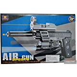 Sunny Collection AIR Sports 202 - 2 - Gun With Laser And Torch - Action Toy Full Set With Bullet, Laser, Screw Driver, Silencer And Sun Glass (Black)
