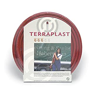 'Manguera de PVC Terra plast, color rojo, 1/2en rollos de 100Mtr.