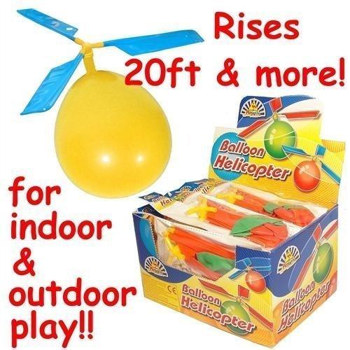 Troflink - Flying Aircraft DIY Spiel Spielzeug 4 x Ballon Hubschrauber Neuheit Spielzeug Geschenk Outdoor Kind Kind Ballon Hubschrauber Flugzeug Hubschrauber