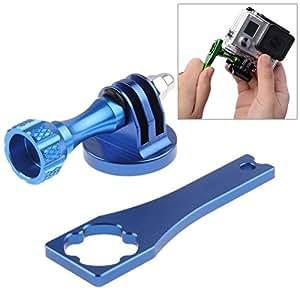Camera Tripod Mount Adapter + Metal Standard Long Screw + Screw Rod Wrench for Gopro Hero 3+ / 3 / 2(Blue)
