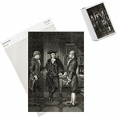 Photo Jigsaw Puzzle of Baron de Kalb (centre) introducing Lafayette to Silas Dean, from Life and