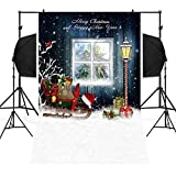 ADESHOP New Christmas Decorations, Christmas Backdrops Snowman Vinyl 3x5FT Lantern Background Photography Studio
