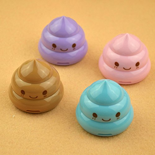 Blue Vessel Emoji Poop Anspitzer Students 'Lieblings Mini Double Hole Bleistift Messerschärfer...