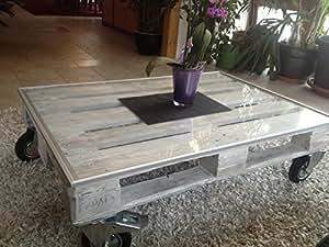palettentisch mit rollen und glasplatte upcycling k che haushalt. Black Bedroom Furniture Sets. Home Design Ideas