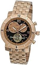 Comprar Aatos AgilusRgRgB - Reloj de caballero automático, caja y correa de acero inoxidable bañado en oro rosa