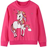 Little Girls Sweatshirt Long Sleeve Cotton Jumper Casual Kids Christmas Shirt Tops Childrens Pullover T-Shirt for Toddler Clo