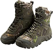 FREE SOLDIER Outdoor Men's Tactical Military Boots Suede Leather Work Boots Combat Hunting B