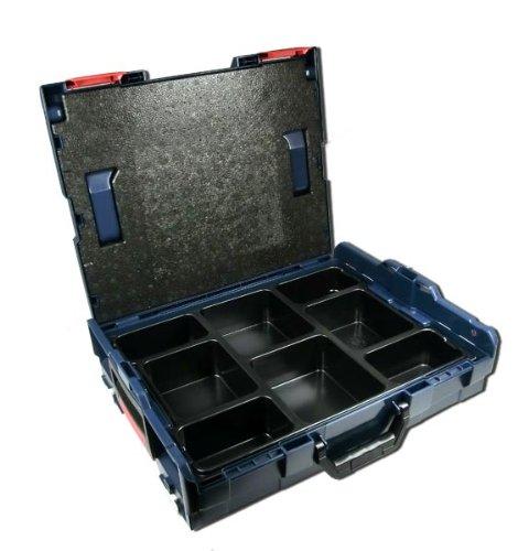 Preisvergleich Produktbild Bosch L-BOXX Größe 1 Sortimo 102 - 3 Stück mit Kleinteileinsatz 8 Mulden
