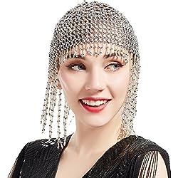 ArtiDeco - Cinta para el pelo - para mujer plata Talla única