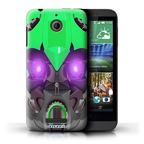 Kobalt® Imprimé Etui / Coque pour HTC Desire 510 / Opta-Bot Jaune conception / Série Robots Bumble-Bot Vert