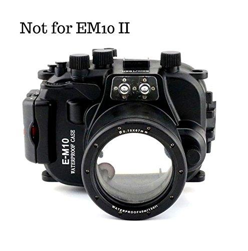 CameraPlus - Unterwasser digitalkamera - Unterwassergehäuse für Olympus E-M10 14mm-42mm Objektiv bis 40m Wasserdicht leicht bedienbar PT-EP08