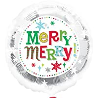 Merry Christmas Snowflakes 18 Inch Foil Balloon by Anagram