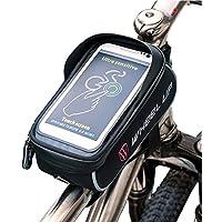 Fahrradtasche Rahmentasche Oberrohrtasche Fahrrad Handy Tasche Vorne Sensitive Touch-Screen Wasserdicht Groß Schwarz