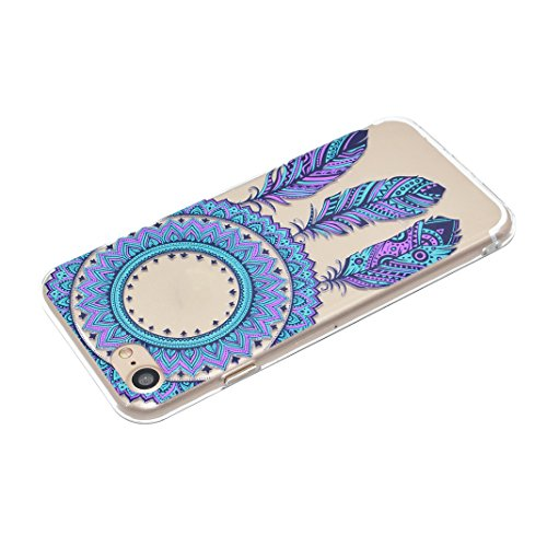 3PCS Coque iPhone 6 Silicone Doux TPU, Etui iPhone 6S Transparent Case, Moon mood® Ultra Mince Portable Couverture pour Apple iPhone 6S 4.7 pouces Case Cover Coque de Protection Slim résistant aux ray Style-5