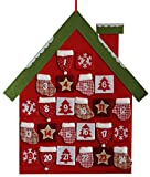Adventskalender großes Haus zum Aufhängen und Befüllen