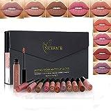 12x Beauty Makeup Lip Gloss Velluto Matte Impermeabilizzante Lungo Durata Non Sbiadire Rossetti immagine