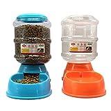 TOOGOO(R) 2 x Distributeur de Croquettes et d'eau pour Chien et Chat 3.5L