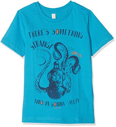 ESPRIT Jungen T-Shirt RL1021402, Türkis (Dark Teal 495), 116 (Herstellergröße: 116/122)