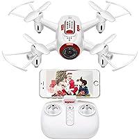 DoDoeleph RC Drone SYMA X22W Mini Drohne Mit Kamera Live Übertragung FPV Ferngesteuerter Quadrocopter Eine Taste Start Landung Höhehalte Funktion Headless Modus Für Anfänger Kinder
