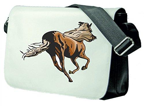 """Schultertasche """"Pferd galoppiert rennt Reitsport reiten Freizeit Hobby Mustang Hengst"""" Schultasche, Schulanfang"""