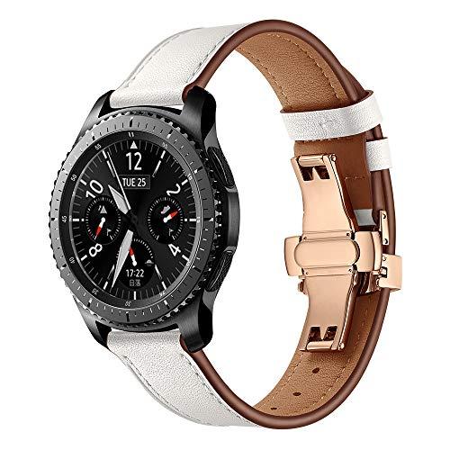 12shage Kompatibel mit Gear S3 Smart Watch - 200mm Uhrenarmband Edelstahl Metall Ersatzband - Satz Edelstahl Uhr
