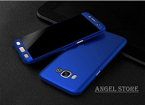 Anvika Slim Fit 360 Degree Full Body Protection Hybrid Case Cover for Samsung Galaxy Grand Prime (G-530) ( includes front & back cover & screen tempered glass ) - BLUE  available at amazon for Rs.186