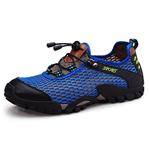 SCIEU Herren Wanderschuhe Sports Outdoor Trekking Schuhe Leichte Atmungsaktiv Turnschuhe Laufschuhe Sneakers