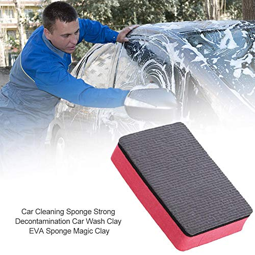 Goforwealth 3 Pack Autowaschschwamm Magic Clay Rub Block Autowaschwachs Polierpads Radiergummi Autowaschschwamm Starke Dekontamination Autowaschschwamm -