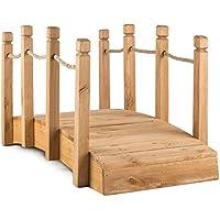 Blumfeldt Rialto Puente de jardín puente decorativo (madera de pino maciza, resistente a la intemperie, tamaño 58x58x122cm)