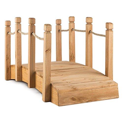 blumfeldt rialto ponte giardino decorazione legno massiccio (58 x 58 x 122 cm, corda corrimano, resistente agli agenti atmosferici) legno rossastro