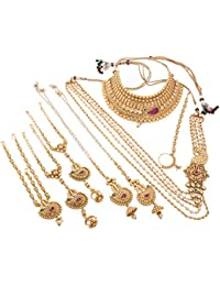 Takle Jewellers Gold Non-Precious Metal Dulhan Jewellery Set For Women