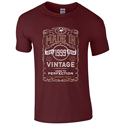 UKPrintwear Herren T-Shirt Kastanienbraun