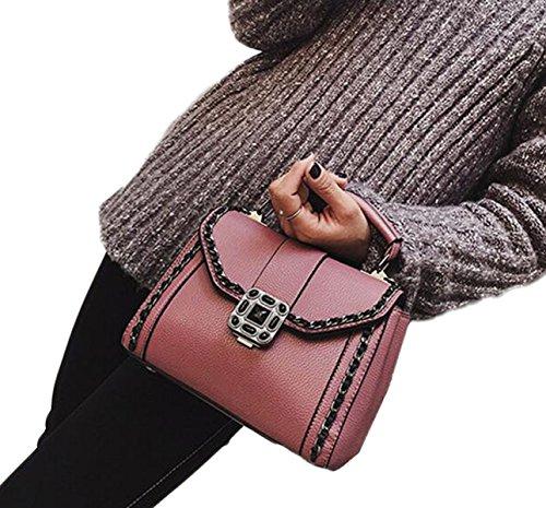 Sac à Bandoulière Rétro Sauvages Dames Sac Simple Messager D'embrayage pink