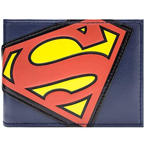 DC Comics Superman Anzug Logo Blau Portemonnaie - Superman Neue Kostüm Blau