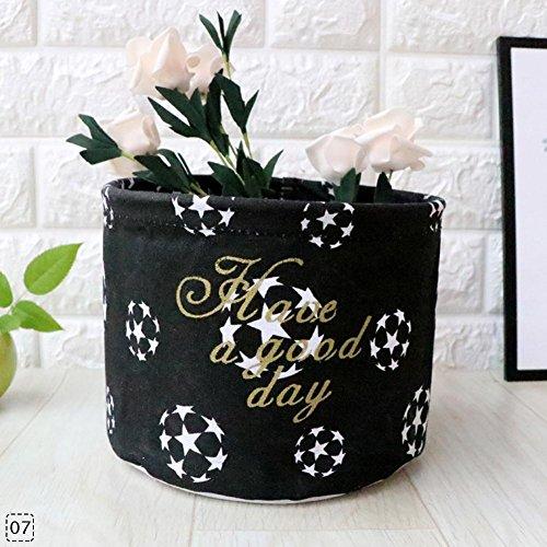 CALISTOUS tragbar Fold Desktop in in Aufbewahrungskorb Bucket Home Organizer Box Bin Container Black Football