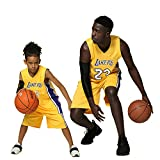 XCR Kids Jongens Meisjes Mannen Volwassenen NBA Lebron James #23 LBJ LA Lakers RETRO Basketball Jerseys Zomer Suits Kits Top+Shorts 1 Set