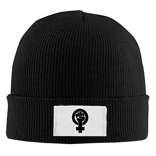 Nifdhkw Beanie Sombreros Puño Feminista Impreso Gorro de Cobertura Slouchy Winter Warm Skull Caps para Hombres Moda Mujer32