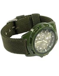 QBD QBD Army Green Clock–For Children, Green Fabric Strap