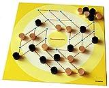 Sonnenmühle, die anspruchsvolle Mühle-Variante. Großdruckspiel - extra großer Spielplan, große Spielsteine (Large, gelb)