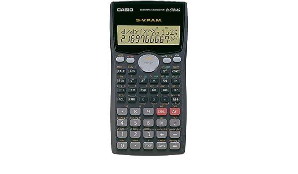 5d026fa567a0 Casio FX-570MS 2-Line Display Scientific Matrix Vector Calculations  Calculator  Amazon.in  Office Products