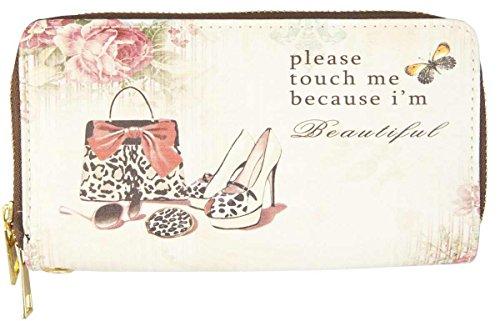 Clayre & Eef FAP0093-12 Börse Geldbörse Kosmetiktasche Etui Portemonnaie Geldbeutel Tasche Schuhe ca. 20 x 11 cm (20 Schuh Tasche)