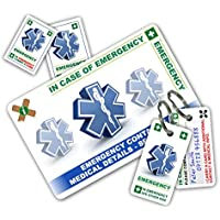 ICECARD STANDARD Health and Safety In Case of Emergency (I.C.E.) Card Pack with 1 Card, 2 Key Rings & 2 Stickers.