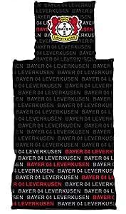 Bayer 04 Leverkusen Linon Bettwäsche schwarz 15/16 135x200 cm Bettbezug Bettzeug