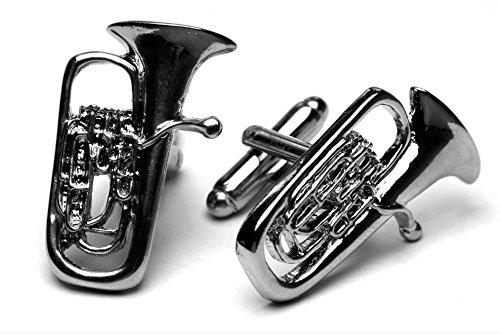 Euphonium/Tuba silver-plated cufflinks