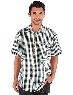 Orbis Trachtenhemd 921001-2996 karo Halbarm grün