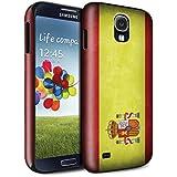 STUFF4 Brillo Duro Carcasa/Funda a Prueba de Golpes para el Samsung Galaxy S4/SIV / serie: Banderas - España Español