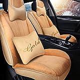 HEIFEN Car Interior Seat Cover Winter Car Seat Breve Peluche Caldo, Freddo Pieno, Circondato, 2 Posti, Sedile Conducente E Copilota, Adatto per Auto, Casa, Coprisedile per Interno