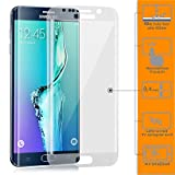 Galaxy S6 Edge+ Plus Protection écran, ZanastaDesigns Verre Trempé Protecteur Tempered Glass Screen Protector pour Samsung Galaxy S6+ Edge Plus 5.7' [Curved 3D] [blanc] en forme de dôme