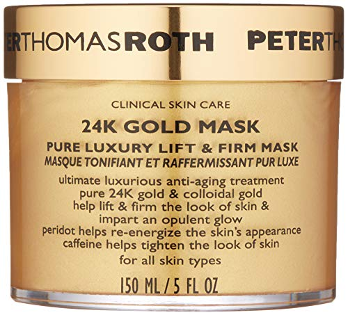Peter Thomas Roth  Peter Thomas Roth 24K Gold Pure Luxury Lift And Firm Mask, 5 Ounce Tappo per orecchie 2 Centimeters Nero (Black)